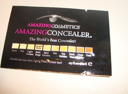 Free Sample of Amazing Cosmetics Amazing Concealer
